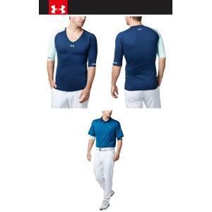クリアランスセール アンダーアーマー ゴルフ ベースレイヤー UAクールスイッチ フィッティド HS Vネック 1331424 メンズ 19SS ゆうパケット配送|annexsports|02