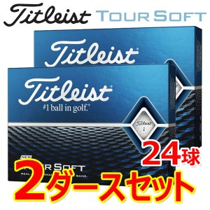 【2ダースセット】 タイトリスト ゴルフ ツアー ソフト ゴルフボール 2ダース(24球) 2020...