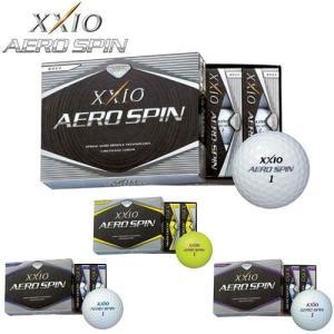 ゼクシオ XXIO AERO SPIN エアロスピン ゴルフボール 1ダース 2014年モデル 全品送料無料