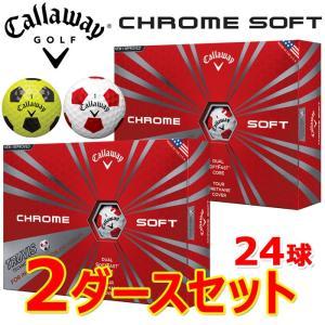 キャロウェイ クロムソフト トゥルービス ゴルフボール 2ダースセット CHROME SOFT TRUVIS USA直行便|annexsports