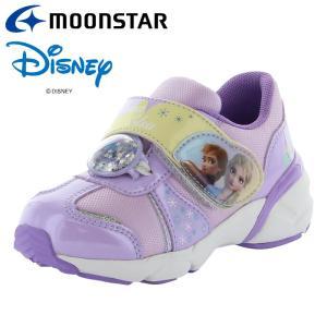 ムーンスター ディズニー「アナと雪の女王2」のキッズシューズ DN C1282 パープル 12182319 子供靴 キッズ スニーカー|annexsports