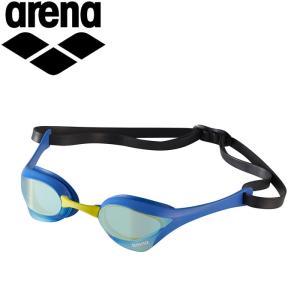 ゆうパケット配送 アリーナ 水泳 くもり止めスイミンググラス クッションタイプ(ミラー加工) AGL-180M-YBBY|annexsports