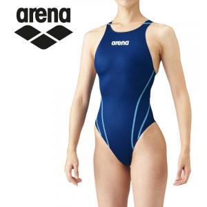 アリーナ 水泳 水着 リミック(クロスバック) レディース ARN-1021W-NVBU|annexsports
