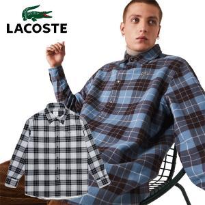 ラコステ 長袖 フランネルシャツ オーバーサイズ LACOSTE L!VE メンズ CH1185L annexsports