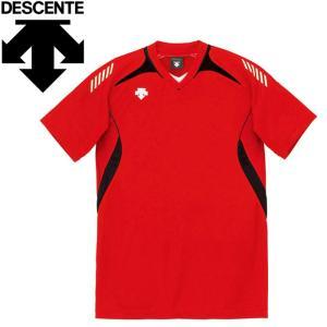 デサント バレーボール 半袖ゲームシャツ メンズ レディース DSS-4922-RBK ゆうパケット...