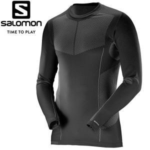 サロモン PRIMO WARM LS CN TEE M ベースレイヤー メンズ L38286300 ゆうパケット配送|annexsports