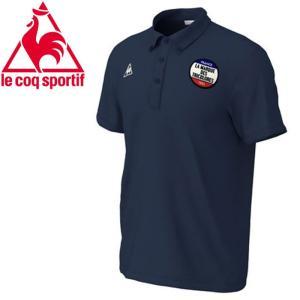 クリアランスセール ルコック 半袖ポロシャツ メンズ QMMNJA42-NVY ゆうパケット配送|annexsports