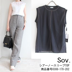 0308-170-202 Sov ソブ Shiny veilカットソー DOUBLE STANDARD CLOTHING ダブルスタンダードクロージング|annie-0120