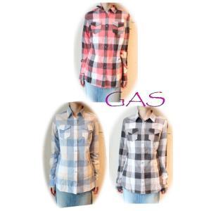 セール50%OFF SALE GAS(ガス)ソフトチェックシャツ レディース 通販 コーディネート コーデ 服|annie-0120