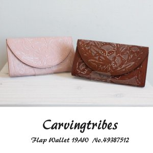 49387512 Flap Wallet グレースコンチネンタル カービングシリーズ,GRACECONTINENTAL carvingtribes カービングトライブス 送料無料|annie-0120
