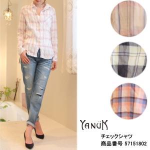 ヤヌーク セール SALE 20%OFF チェックシャツ YANUK|annie-0120