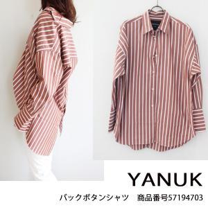 57194703 YANUK ヤヌーク Back Button Shirt   送料無料 あすつく|annie-0120
