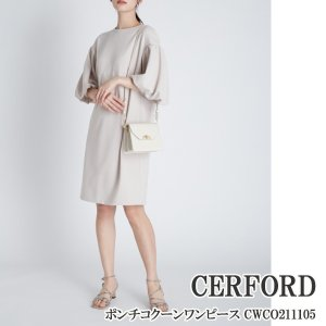 CWCO211105 CELFORD ポンチコクーンワンピース セルフォード 送料無料,21SS|annie-0120
