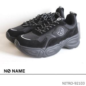 期間限定SALE NO NAME ノーネーム ダッドスニーカー(レザーVer.)NITRO-92103 BLACK 19AW 送料無料 あすつく annie-0120