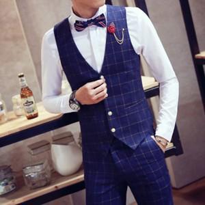 ベスト メンズ ジレベスト ビジネスベスト スーツベスト チェック柄 薄手 スリムベスト 紳士服 前開き 通勤 仕事 二次会 フォーマル オフィス 春物 新作|annyshop