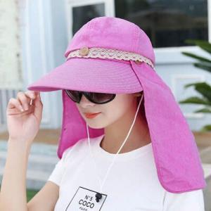 帽子 つば広ハット レディース UVカット サンバイザー 紫外線対策 2way 取外し可 リボン付 農作業 自転車 オシャレ アウトドア 日よけ 春夏 新作 2017 送料無料|annyshop