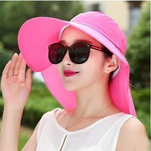 帽子 つば広ハット レディース UVカット サンバイザー 紫外線対策 2way マスク付 リボン付 通気性 農作業 自転車 無地 アウトドア 日よけ 春夏 新作 2017|annyshop