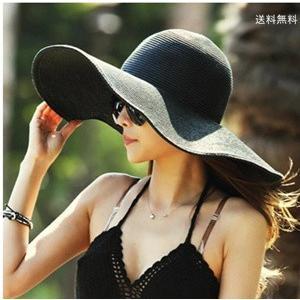 帽子 つば広ハット レディース ビーチハット 紫外線対策 麦わら UVカット リゾート風 折畳み可 砂浜用品 小顔効果 日よけ シンプル 春夏 新作 送料無料|annyshop