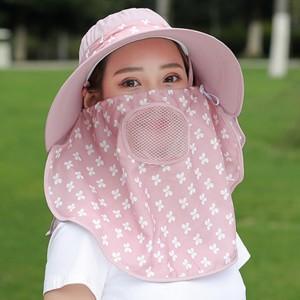 2点セット つば広帽子 サファリハット レディース UVカット ハット フェイスカバー付 紫外線対策 サンバイザー 日焼け止め アウトドア 通気性 遮光|annyshop