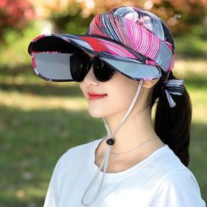 キャップ 帽子 レディース UVカット ハット つば広 紫外線対策 ぼうし 調節できる サンバイザー 日焼け止め アウトドア 通気性 遮光 送料無料 annyshop