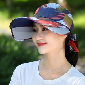 キャップ 帽子 レディース UVカット ハット つば広 紫外線対策 ぼうし 調節できる サンバイザー 日焼け止め アウトドア 通気性 遮光 送料無料 annyshop 02