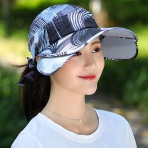 キャップ 帽子 レディース UVカット ハット つば広 紫外線対策 ぼうし 調節できる サンバイザー 日焼け止め アウトドア 通気性 遮光 送料無料 annyshop 04