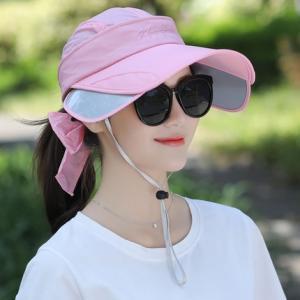キャップ 帽子 レディース UVカット ハット つば広 紫外線対策 ぼうし 調節できる サンバイザー 日焼け止め アウトドア 通気性 遮光 送料無料 annyshop 05