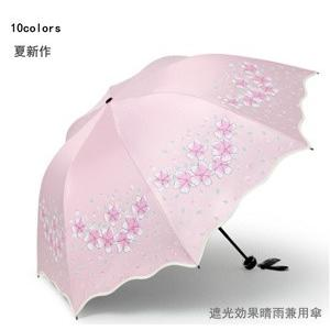 折りたたみ傘 晴雨兼用 男女兼用  レディース 100% 完全遮光 日傘 遮光  紫外線 UVカット 対策 折り畳み 雨傘 撥水 遮熱 軽量 10色 送料無料|annyshop