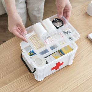 救急箱 応急処置 収納ケース 薬箱 薬入れ 救急ボックス 応急手当 くすり 収納 大容量  軽量 コンパクト 包帯 引き出し 送料無料|annyshop|02