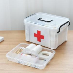 救急箱 応急処置 収納ケース 薬箱 薬入れ 救急ボックス 応急手当 くすり 収納 大容量  軽量 コンパクト 包帯 引き出し 送料無料|annyshop|04