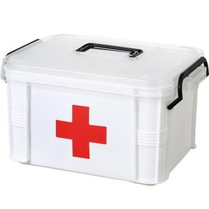 救急箱 応急処置 収納ケース 薬箱 薬入れ 救急ボックス 応急手当 くすり 収納 大容量  軽量 コンパクト 包帯 引き出し 送料無料|annyshop|05
