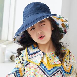 サファリハット つば広帽子 キッズ用 子供用 子ども用 UVカット 両面用 ハット 帽子 ぼうし 紫外線対策 日焼け止め アウトドア 通気性 遮光 折畳み可|annyshop