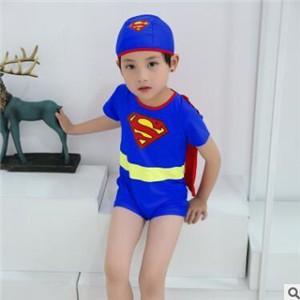 2点セット 男の子 水着 半袖 帽子 子ども 子供 キッズ ベビー ラッシュガード スーパーマン スイミングウェア ビーチ 温泉 プール 夏物 新作 送料無料|annyshop