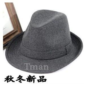 中折れハット メンズ フェルトHAT ウール 中折れ帽子 秋冬 帽子  大きいサイズ 帽子 シンプル 男女兼用|annyshop