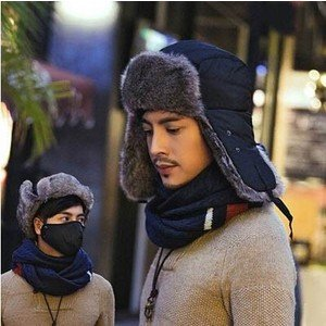ロシア帽 メンズ パイロット帽子 メンズキャップ 耳あて付き スキー用 ロシア帽 キャップ 厚手 ファー ボア 防寒 あったかい アウトドア オシャレ|annyshop