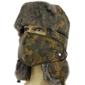 毛皮帽子 メンズ パイロット帽子 パイロットキャップ 耳あて付き ロシア帽 キャップ 迷彩 ファー 防寒 あったかい アウトドア 防水 スキー用 男女兼用|annyshop