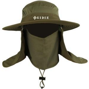 送料無料 UVカット帽子 紫外線対策用 ハット 3way日よけ帽子 帽子 メンズ レディース 釣り?アウトドア?農作業 登山 男女兼用  首元まで完全防備|annyshop