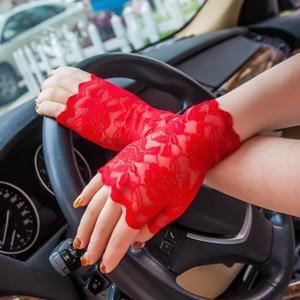 2点セット 手袋 UV手袋  UVカット 涼しい レース手袋 指なし 手ぶくろ ショート手袋 日焼け対策 アウトドア 日焼け止め 紫外線防止 通気性 薄手 夏|annyshop