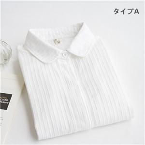 長袖シャツ レディース 長袖 ブラウス シングル 折り襟 ストライプ 白いシャツ 細身 インナー トップス   3タイプ カジュアル  送料無料|annyshop