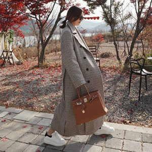 チェスターコート レディース 長袖 ロング丈 コート アウター ロングコート ゆったり 大きいサイズ 千鳥格子 柔らかい 防寒 暖かい あったか 秋物 冬物 新作|annyshop