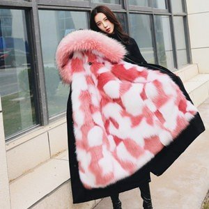 ファーコート レディース 毛皮コート フォックス取り外し ロッグコート フード付き フェイクファー 高級 あったか 暖かい アウター 防寒 冬物 秋物 新作|annyshop