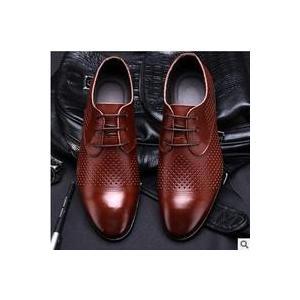 メッシュシューズ メンズ フェイクレザーシューズ PU革靴 ビジネスシューズ 革サンダル 通気性抜群 安定感 カジュアル コンフォート|annyshop