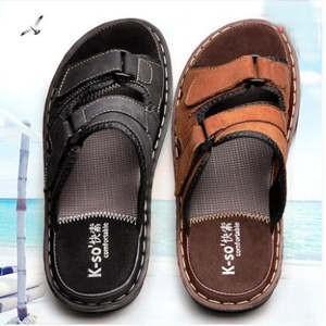 カウレザーサンダル メンズシューズ レザービーチサンダル メンズ サンダル 2タイプ 革靴 通気性抜群 カジュアル 夏新作|annyshop
