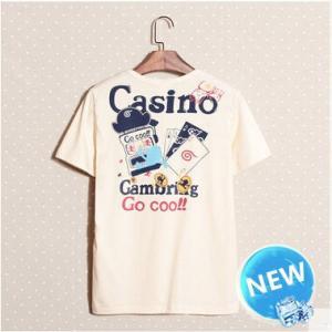 半袖Tシャツ メンズ Tシャツ  半そで ロンT メンズ Uネック 落書 プリント 春物 春 夏 メンズファッション トップス|annyshop