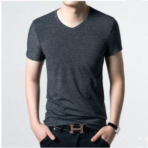 Tシャツ メンズTシャツ tシャツ 半袖 無地 半そでtシャツ メンズ カットソー 夏 夏服 メンズファッション Vネック トップス 全19色|annyshop