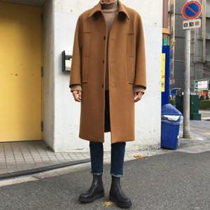 チェスターコート トレンチコート メンズ 長袖 無地 アウター ロングコート ゆったり 厚手 防寒 暖かい あったか 秋物 冬物 新作 送料無料|annyshop