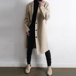 チェスターコート トレンチコート メンズ ウール 長袖 無地 アウター ロングコート ゆったり 厚手 防寒 暖かい あったか 秋物 冬物 新作 送料無料|annyshop