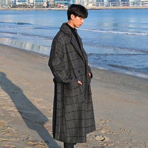 チェスターコート トレンチコート メンズ 長袖 チェック柄 アウター ロングコート ゆったり 厚手 防寒 暖かい あったか 秋物 冬物 新作 送料無料|annyshop