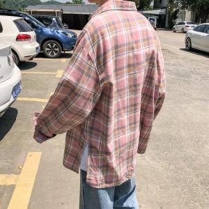 長袖シャツ メンズ 長袖 シャツ メンズシャツ 折り襟 チェック柄 カジュアルシャツ ゆったり 通学 オシャレ カジュアル 秋物 新作 送料無料 annyshop 05