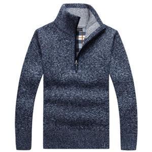 セーター ニット メンズ ニットセーター 長袖 防寒セーター 立ち襟 ボア付き 裏起毛 厚手 防寒 暖かい あったか ゆったり おしゃれ アウター 冬物 新作 送料無料|annyshop